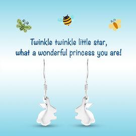 Bunny Hook Earrings for Kids in Sterling Silver