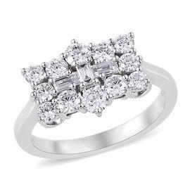 RHAPSODY 950 Platinum IGI Certified Diamond (Rnd) (VS/E-F) Boat Cluster Ring 1.000 Ct.