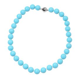 Sleeping Beauty Colour Shell Pearl (Rnd 13-15 mm) Necklace (Size 20) with Magnetic Lock
