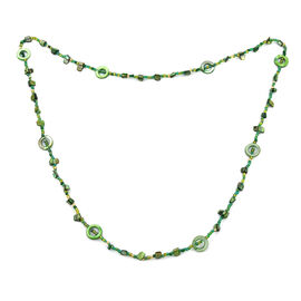 One Time Deal- Emerald Colour Beads Necklace (Size 46)