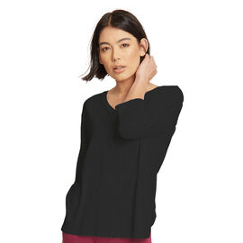 Thought Bamboo v Neck Tee in Black Colour