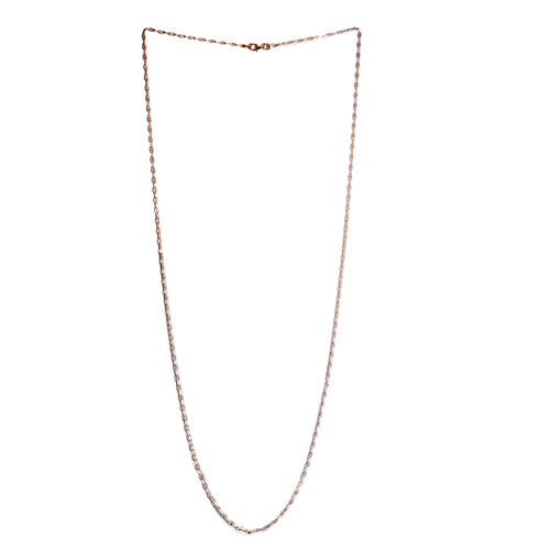 Rose Gold Overlay Sterling Silver Hammered Chain (Size 30)