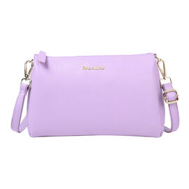 Value Buy- SENCILLEZ Genuine Leather Crossbody Bag (Size 28x9x17cm) - Purple