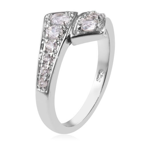 Natural Cambodian Zircon Ring in Platinum Overlay Sterling Silver 0.60 Ct.