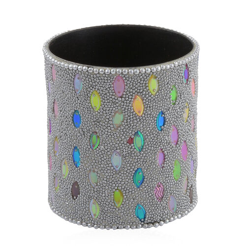 Hand Crafted Crystal Embellished Grey Colour 10 Pen and Holder Set