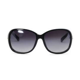 Designer Inspired Sunglasses - Black with Crystal