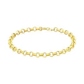 Italian Made 9K Yellow Gold Belcher Bracelet (Size 7), Gold 2.60 Gms.