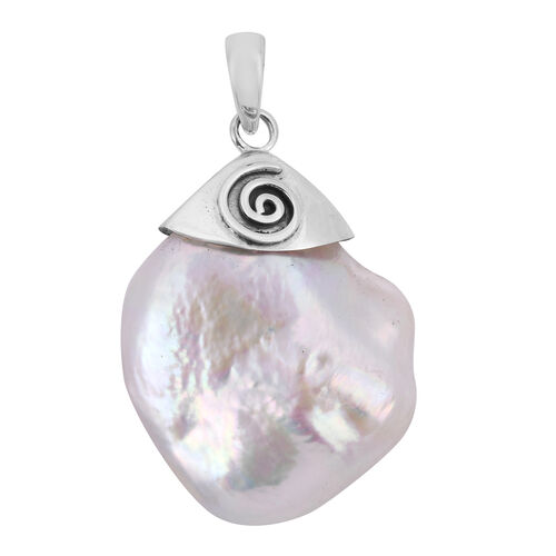 Royal Bali Collection Freshwater Pearl Pendant in Sterling Silver
