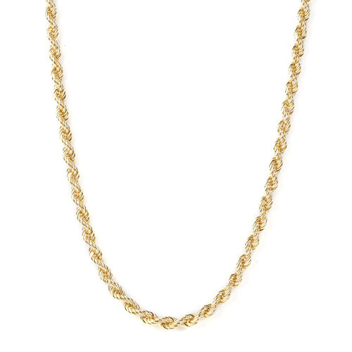 Vicenza Close Out 9K Yellow Gold Rope Necklace (Size 26), Gold wt 14.46 Gms