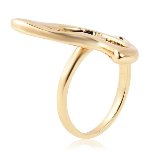 Isabella Liu - Butterfly Reborn Collection - Simulated Diamond (Rnd) Adjustable Ring in 18K Yellow Gold Overlay Sterling Silver