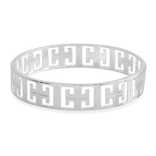 Designer Inspired-Sterling Silver Bangle (Size 8), Silver wt 20.00 Gms