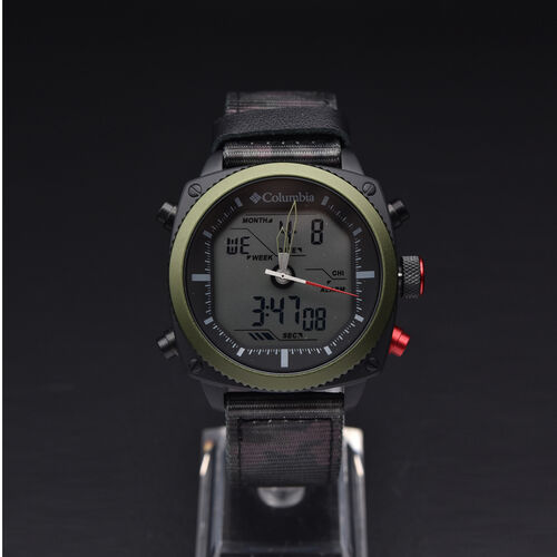 Columbia Ridge Runner Analog-Digital Camo Nylon Watch