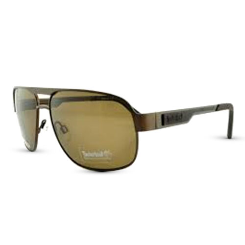 TIMBERLAND Brown Aviator Sunglasses with Brown Lenses