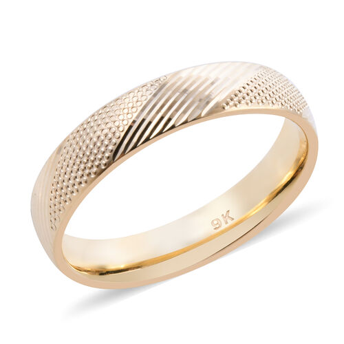 Royal Bali Collection - 9K Yellow Gold Band Ring