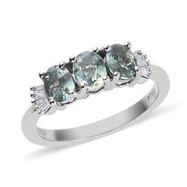 RHAPSODY 1.05 Ct AAAA Narsipatnam Alexandrite and Diamond Trilogy Ring in 950 Platinum VS EF