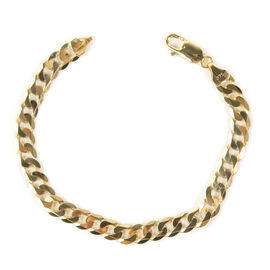 Vicenza Close Out 9K Yellow Gold Curb Bracelet (Size 8) with Lobster Clasp, Gold wt 12.80 Gms