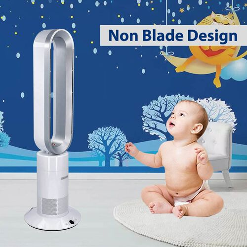 3-in-1 Bladeless Heater, Air Purifier and Fan with Remote Control (Size 85.3x26.5x16 Cm)