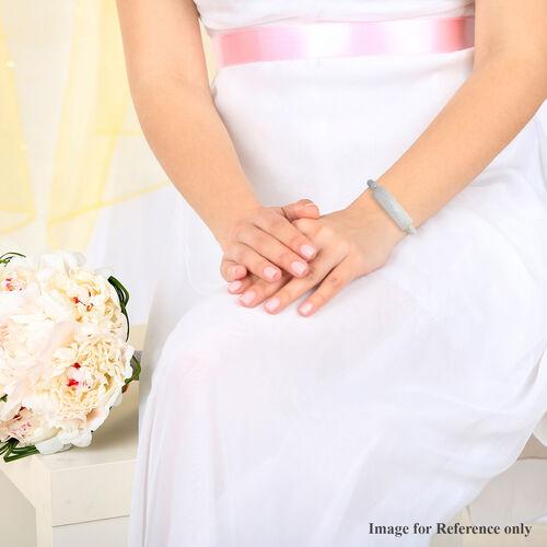 White Jade Stretchable Bracelet (Size 7.5) 150.00 Ct.