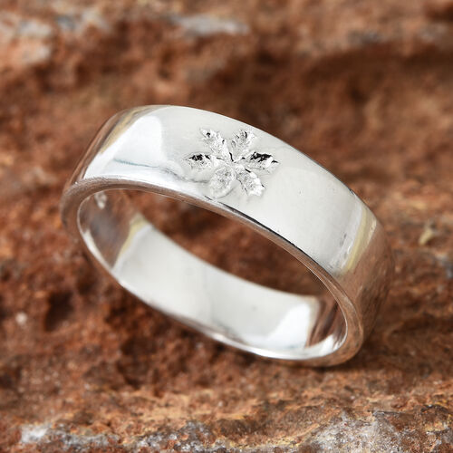 Designer Inspired Sterling Silver Band Ring, Silver wt 4.75 Gms.