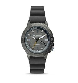 Columbia Peak Patrol Grey 3-Hand Day Date Grey Silicone Watch