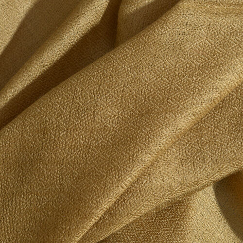 Limited Available - 100% Cashmere Wool Dark Beige Colour Shawl (Size 200x70 Cm)