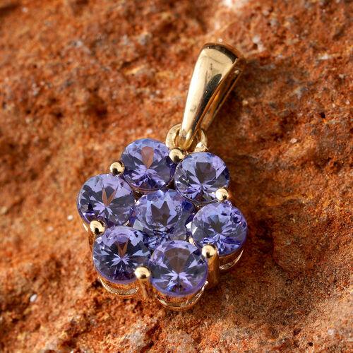 Close Out Deal-14K Yellow Gold AA Tanzanite (Rnd) Pendant 1.650 Ct.