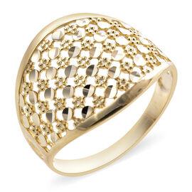 Royal Bali Collection Diamond Cut Ring in 9K Yellow Gold 1.90 Grams