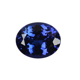 AAAA Tanzanite Oval  12.63X10.247.42 Faceted 7.04 Ct.