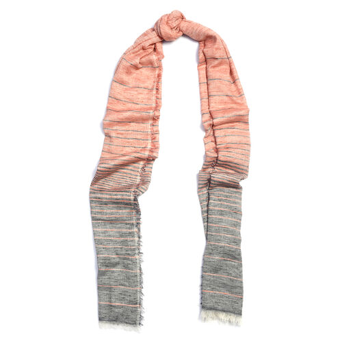 Red and Grey Colour Scarf (Size 190x70 Cm)