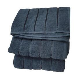 3 Piece Set 100%  Combed Cotton Full Size Bath Sheets - Black (93 x 138 cm)