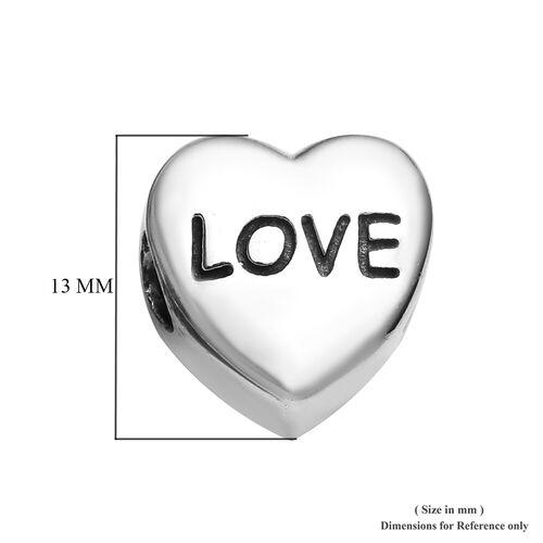 Charmes De Memoire Platinum Overlay Sterling Silver Sister Love Heart Charm