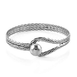 Royal Bali Collection Sterling Silver Bangle (Size 7.5), Silver wt 20.00 Gms