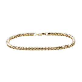 Royal Bali Collection 9K Yellow Gold Spiga Bracelet (Size 7.5).Gold Wt 3.50 Gms