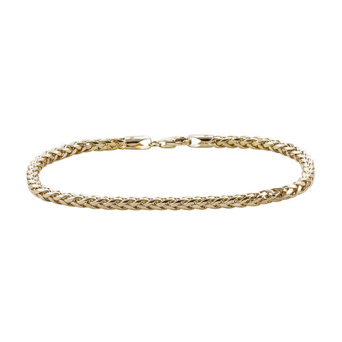 Royal Bali Collection 9K Yellow Gold Spiga Bracelet (Size 7.5).Gold Wt 3.50 Gms