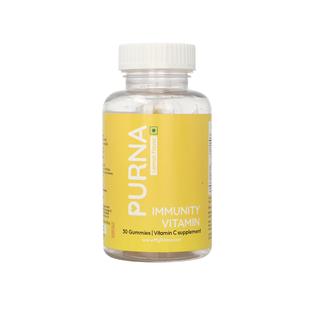 PURNA: Bright Skin Vitamin C 30 Gummies for Adults & Kids - Lemon