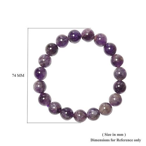 Amethyst Beaded Stretchable Bracelet (Size 6.5) 128.90 Ct.