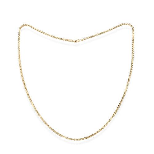 Royal Bali Collection 10K Yellow Gold Curb Necklace (Size 18)