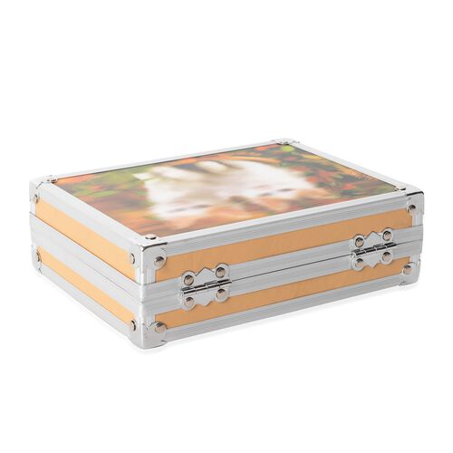 Beige Colour 3D Cat Painting Jewellery Box (Size 20x15x6.2 Cm)