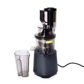 240W Wide Mouth Slow Juicer with a Container, a Fine Filter and a Cleaning Brush - Black