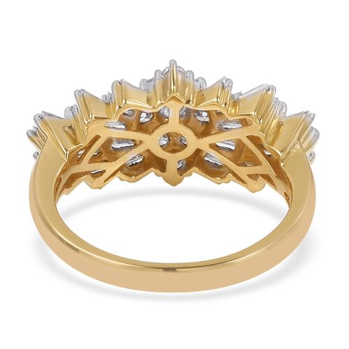 ILIANA 18K Yellow Gold IGI Certified Diamond (Rnd) (SI/G-H) Ballerina Ring 1.000 Ct.