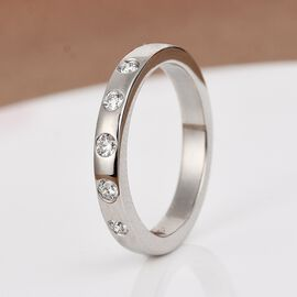 RHAPSODY 950 Platinum IGI CERTIFIED Diamond (VS / E-F) Band Ring 0.150 Ct.