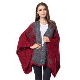 Wine Red Colour Kimono (Size 118x60 Cm)