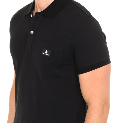 Karl Lagerfeld - Mens Basic Polo Short Sleeve - Black Size - S