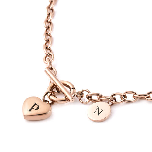 Personalise Engravable Heart Necklave, Size 18 Inch, Stainless Steel