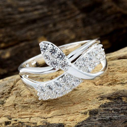 J Francis - Sterling Silver (Rnd) Snake Ring Made with SWAROVSKI ZIRCONIA