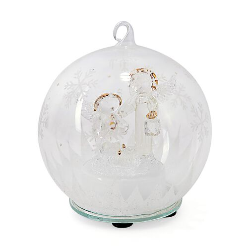 Home Decor - Christmas Nativity of Jesus Theme Glass Ball with Colourful LED Lights Inside