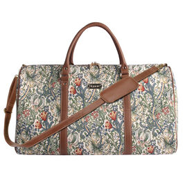 SIGNARE - Tapastry Collection -Golden Lily Big Holdall with Strap (31 x 30 x 13.5 cms)