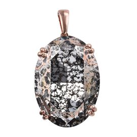 J Francis Rose Crystal From Swarovski Solitaire Pendant in Rose Gold Plated Sterling Silver