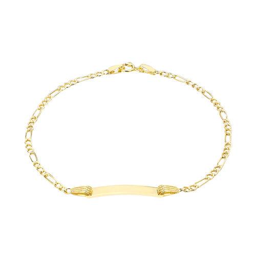 9K Yellow Gold Kids Figaro Bracelet (Size 6.25)