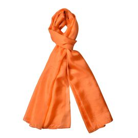 100% Mulberry Silk Autumn Maple Colour Scarf (Size 175X90 Cm)